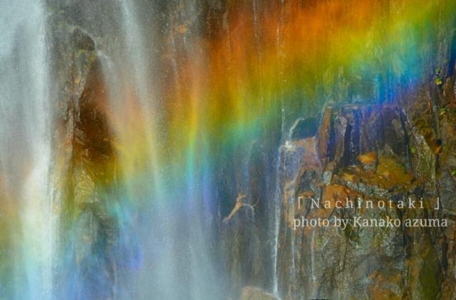 那智の滝と虹